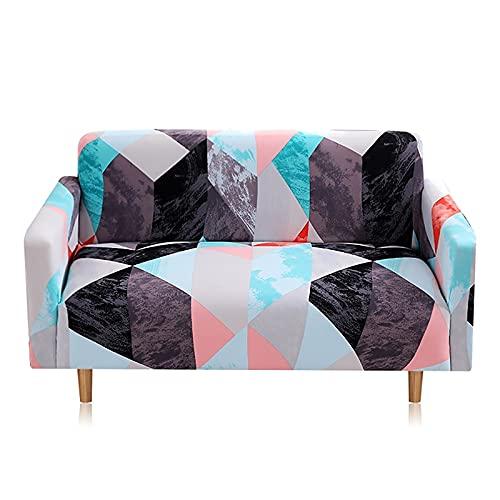 WXQY Toalla de sofá elástica Impresa Funda de sofá Antideslizante Totalmente Envuelta Funda de sofá Antideslizante a Prueba de Polvo Funda de sofá A2 3 plazas