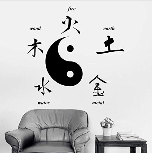 Yssyss Chinese Taoist Culture Wall Stickers Home Decor Buddha Chinese Signs Of Elements Yin Yang Symbol Decal Living Room Bedroom 56 * 56Cm