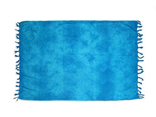 Soleil d'Ocre 402012 Tie and Dye Fouta Coton Turquoise 180 x 140 cm