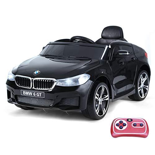 HOMCOM Compatible con Coche Eléctrico para Niño Automóvil Infantil +3 Años con Control Remoto Batería 6V Luces y Sonidos MP3 USB Apertura de Puerta Carga 30kg 106x64x51cm BMW 6GT
