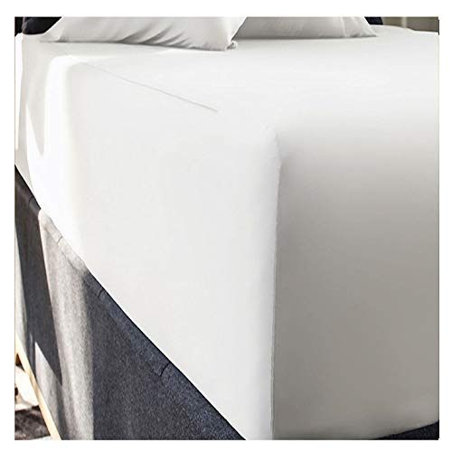 rejuvopedic 16' EXTRA DEEP Double Size Egyptian Cotton Fitted SNOW Sheet, Bedding. **Carefully Woven From Long Staples