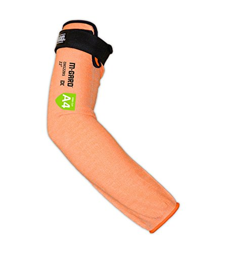 "MAGID Cut Resistant Protective Arm Sleeves, 18"", 1 Sleeve, Orange I Thumbslot: No"