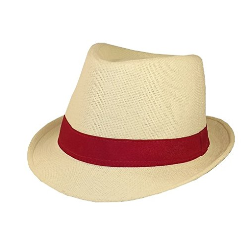 Chapeau-tendance - Chapeau Homme Bandeau Rouge - 55 - Homme