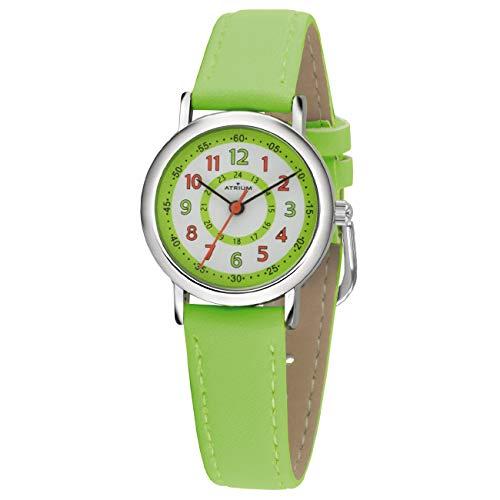 ATRIUM Kinder-Armbanduhr Junge Analog Quarz 5 Bar Metall Lederimitat A31-103