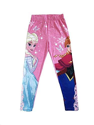 Disney Frozen Anna und Elsa Legging, pink mit Motiv, (6 Jahre)