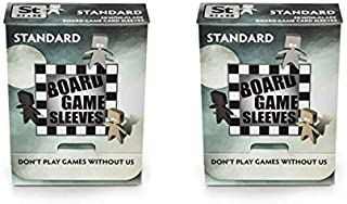 Arcane Tinmen Standard Non-Glare Board Game Card Sleeves 63mm x 88mm Bundle of 2 (100 Sleeves Total)