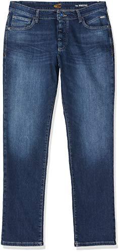 Camel Active Herren 5-Pocket Woodstock Bootcut Jeans, Blau (Mid Blue 42), W34/L32 (Herstellergröße: 34/32)