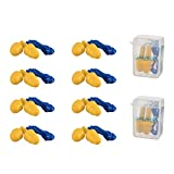 JORESTECH Safety Ear Plugs Reusable Soft Silicone and Corded Excellent for Noise Reduction Swimming Sleeping Set of 10 Pairs with 2 Carrying Cases