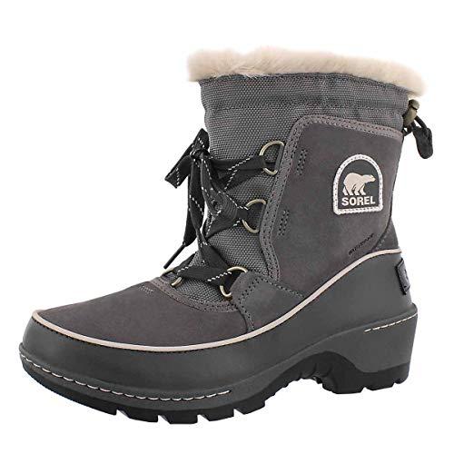 Sorel Women's Tivoli Iii Quarry/Cloud Grey High-Top Leather Snow Boot - 6.5M