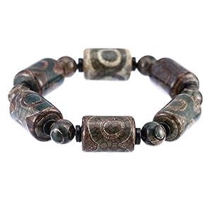 Prime-Feng-Shui-Armband, tibetisches Grün, 3 Augen, Dzi-Armband, schützendes Amulett, bestes Geschenk, zieht positive Energie und Glück an.