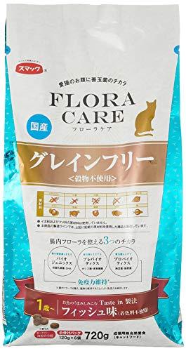 スマック キャットフード フローラケア猫用グレインフリー 1歳以上 フィッシュ味 720g(120x6袋)