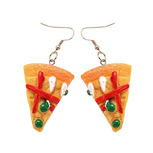Empty Pendientes Colgantes de Pizza para Mujer Pendientes Colgantes de joyería de niña para Mujer Pendientes encantadores Regalo de Fiesta-Verde
