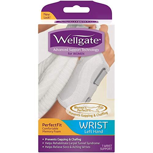 Wellgate for Women, PerfectFit Wrist Brace for Wrist Support - Left