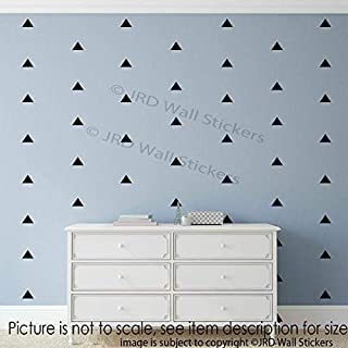 100 pieces 5cm Triangle Signs Wall Stickers, Removable Vinyl Wall Decals, Kid's Room Decor, Girls Bedroom Decor, triangle wall stickers green, Gold, Soft pink, Blue
