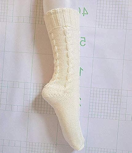 Blau Bridge Frauen Socken Europa und die Vereinigten Staaten Kreative Wollsocken Herbst und Winter warme Dicke Damensocken Amazon Twist Stricken Socken (Farbe  Weiß)