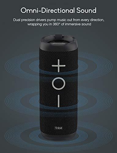Bluetooth Speaker, Tribit StormBox 24W Portable Bluetooth Speakers, 360° Full Surround Sound, Extended XBass, Wireless…