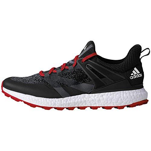 adidas adidas Crossknit Boost Golfschuhe für Herren, Herren, Golfschuh, Q44684, Mehrfarbig/Schwarz/Rot, 39. 1/3