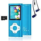 MP3 Player / MP4 Player, Hotechs MP3 Music Player with 16GB Memory SD Card Slim Classic Digital LCD 1.82'' Screen Mini USB Port with FM Radio, Voice Record