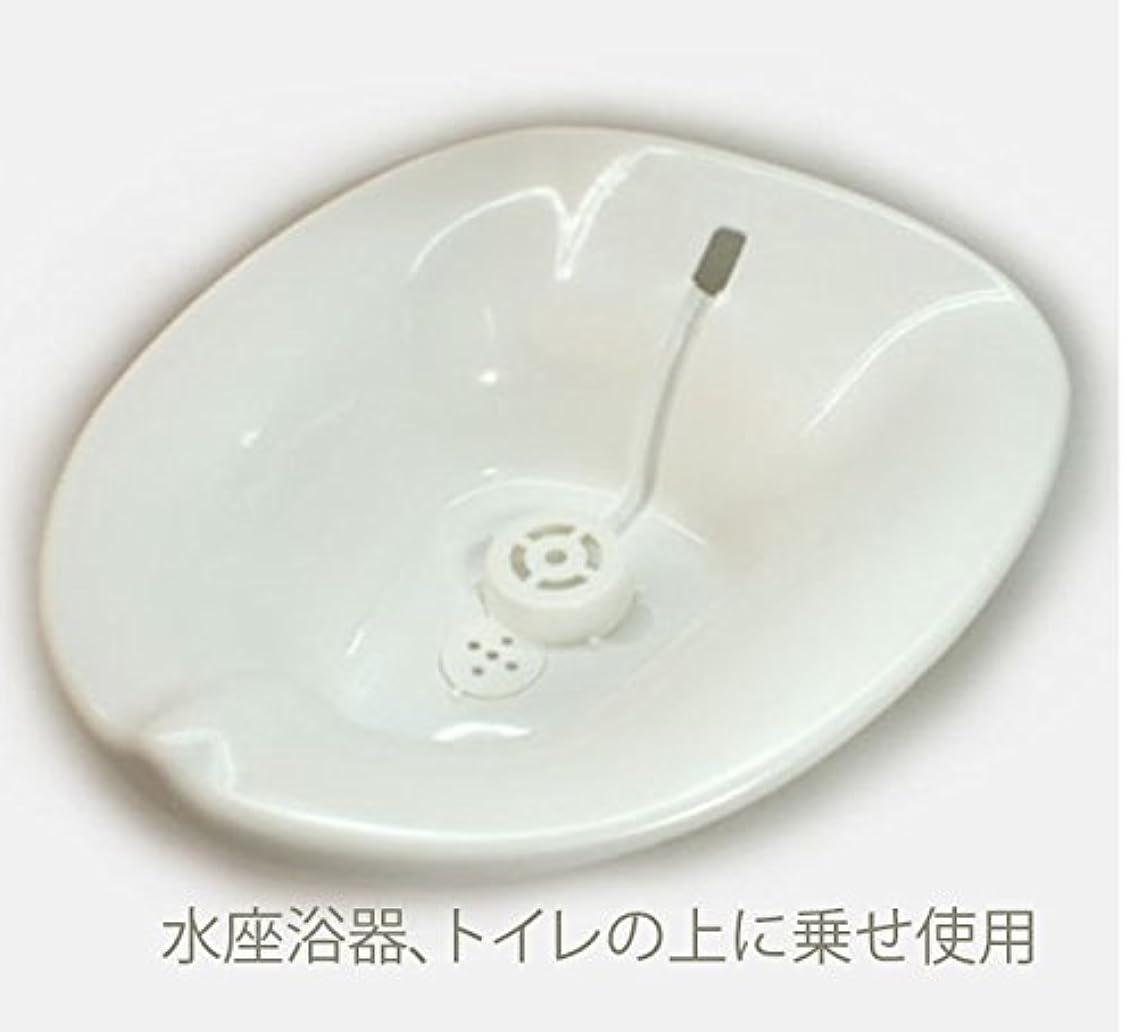 サンプル高齢者チャンピオンシップお尻の座浴、、座浴のため、軟らかいトイレの水座浴用器、現在は色は白です