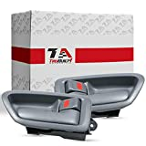 T1A Gray Front or Rear Interior Inside Left Driver and Right Passenger Side Pair of Interior Door Handle Replacements for 1997-2001 Toyota Camry 69206-AA010-G0 69205-AA010-G0