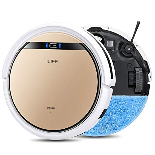 ILIFE V5s Pro, 2-in-1 Robot Vacuum and Mop, Slim, Automatic Self-Charging Robotic Vacuum, Daily Schedule, Ideal for Pet Hair, Hard Floor and Low Pile Carpet.