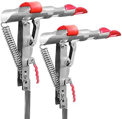 Shackcom Updated 2 Stück Angelrutenhalter Rutenhalter Angelrute mit Automatischer Ruten Halterung Edelstahl Einstellbar Ständer und Einstellbare Empfindlichkeit Rutenablage zum Angeln