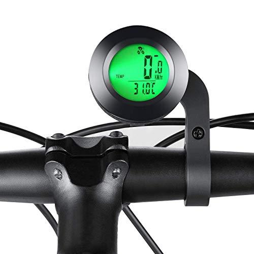 Elikliv Impermeable Bicicleta Ordenador, Inalámbrico Bicicleta MTB Ordenador Cuentakilómetros Cronómetro Velocímetro Reloj...