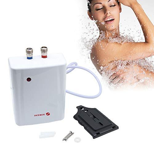 OUKANING 3500W Klein Durchlauferhitzer,220V Sofort Heißes Wasser Durchlauferhitzer IPX4,Druckfest und drucklos, Über-/Untertisch, gradgenaue Wunschtemperatur,für Küche,Bad