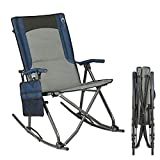 PORTAL Oversized Quad Folding Camping Chair High Back Hard Armrest Storage...