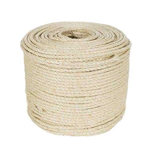 Huakaimaoyi Postes De Cuerda para Rascar Gatos Cuerda De Reemplazo De Árboles Cuerda De Fibra De Sisal Natural 2 Piezas-5M