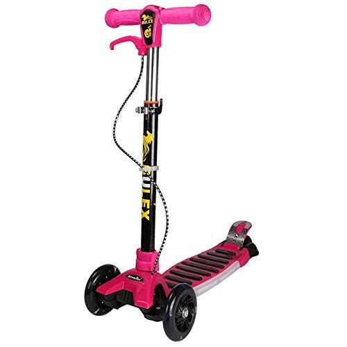 ZTMN KinderscooterDriewielige Muziek Flash Scooter Dubbele Remmen Opvouwbaar Draagbaar Multifunctioneel Pedaal