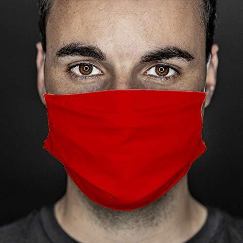 GREVOTEX MASKME Alltagsmaske, Community-Maske, Mund- & Nasenmaske aus 100% Mikrofaser (rot, ohne Druck)