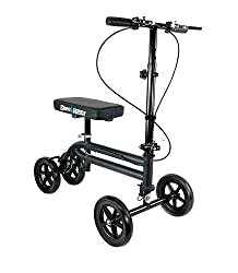 Kneerover economy knee scooter steerable crutches
