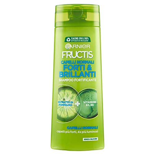 Garnier Fructis Shampoo Capelli Normali, Concentrato Attivo di Frutti, Capelli Forti e Brillanti, 250ml