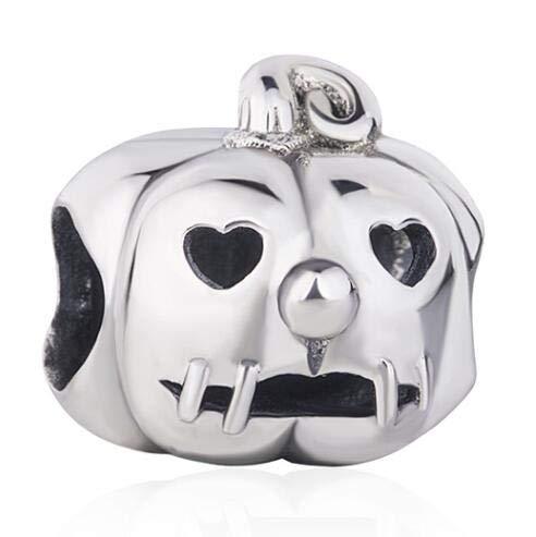 YDMZMS Original 925 Sterling Silber Charm Openwork Laterne Halloween Kürbis Perlen Fit Frauen Armband & Halskette DIY Schmuck