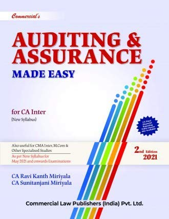Commercial's Auditing & Assurance for CA Inter - 2/edition, 2021