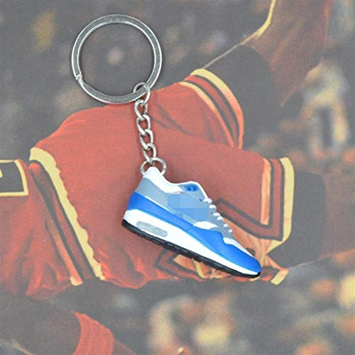 Xssbhsm Key chain 3D Sneaker shoes Keychains with metal ring and box (Color : P8/613)