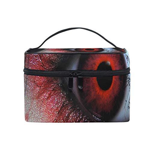 Trousse de maquillage Un étrange sac cosmétique pour les yeux rouges Grand sac de toilette portable pour les femmes/filles