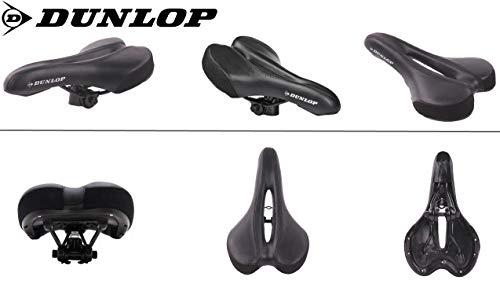 Dunlop FGM19 ergonomicher Mountainbike MTB Fahrrad Sattel, Damen u. Herren Komfort Fahrradsattel, atmungsaktiv, Stoßresistenter weicher Mountain Bike Gelsattel, Rennrad Trekking Rad Sitz, schwarz - 3