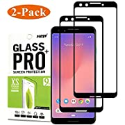 [2PACK] for Google Pixel 3 Tempered Glass Screen Protector,Timbay[9H Hardness][Anti-Scratch][Case Friendly][HD Clear][Anti-Fingerprint] Tempered Glass Screen Protector for Google Pixel 3