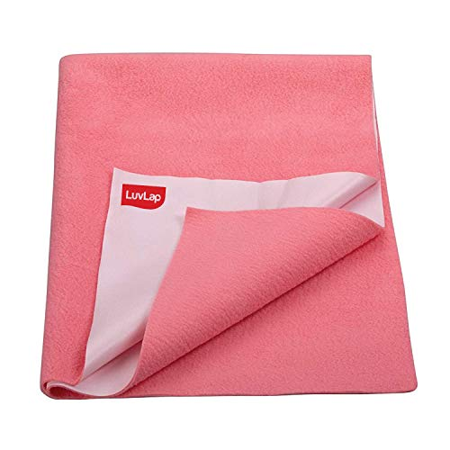 LuvLap Instadry Extra Absorbent Dry Sheet/Bed Protector - Salmon Rose, 0m+ - Small 50 x 70cm