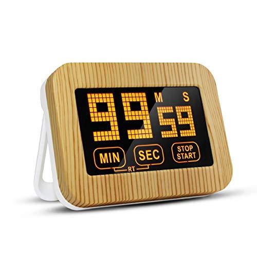 ZB ZealBoom Timer Cucina Digitale Toccare Display LCD Schermo con Forte Supporto Magnetico Timer Elettronico Conto alla Rovescia Forte Sveglia Timer per Studio Allenamento Cuoco