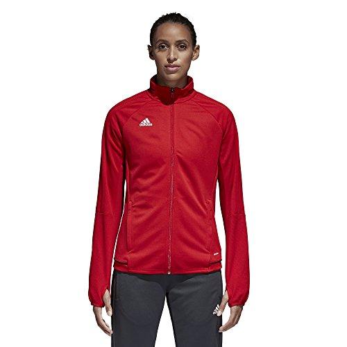 Adidas Tiro 17 Damen Fußball-Trainingsjacke, Größe S, Rot / Schwarz / Weiß