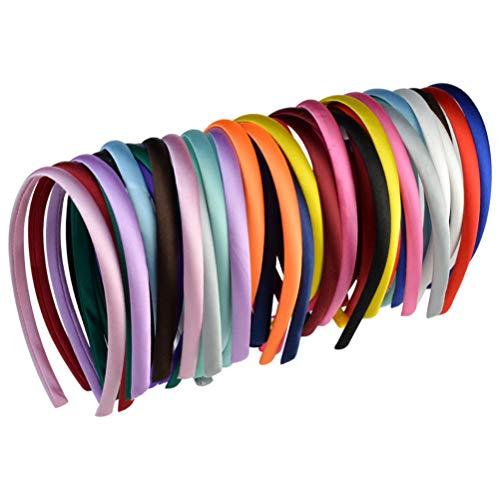 40 Pezzi Cerchietti per Capelli Rivestiti in Morbido Raso Multicolore Hairbands Accessori per Capelli 20 Colori