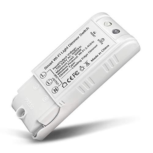 Wifi Regulador Intensidad Cambiar, NOTSEK Inalámbrico Regulador de intensidad Cambiar Módulo Relé Inteligente Ligero Regulador de intensidad Cambiar Compatible con...