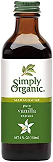 Simply Organic Pure Vanilla Extract, Certified Organic, 4 oz Glass Bottle (Packaging May Vary)
