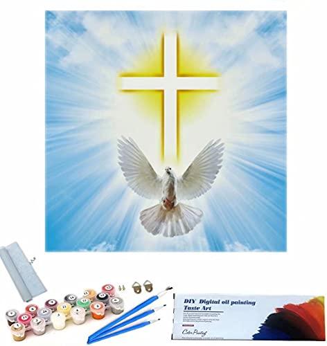 Beaxqb Dipingere con i Numeri Cultura Religiosa DIY Acrilico Dipinto Kit per Adulti e Bambini Arte della Decorazione della casa 40x40cm