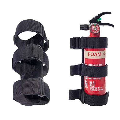Adjustable Roll Bar Fire Extinguisher Holder 3 lb for All Series of Jeep Wrangler Fire Extinguisher Holder,for ATV/UTV Fire Extinguisher Mount, for Jeep Bracket Fire Extinguisher Mount