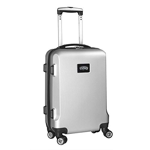 Denco NBA San Antonio Spurs Carry-On Hardcase Luggage Spinner, Silver