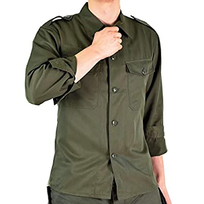 Original Austrian Army Combat Shirt OD Olive drab Field BDU Long Sleeves Genuine Military Issue (Small Long)